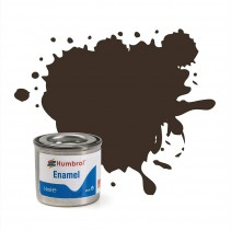 Humbrol Enamel No 10 Service Brown - Gloss - Tinlet (14ml)