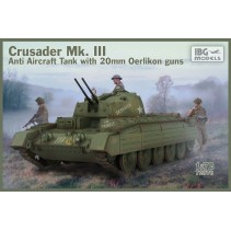 IBG Crusader Mk III Anti Aircraft Tank with 20mm Oerlikon guns IBG72070