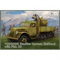 IBG MODELS 72075 1/72 V3000SM Maultier German Halftrack with Flak 38 IBG72075
