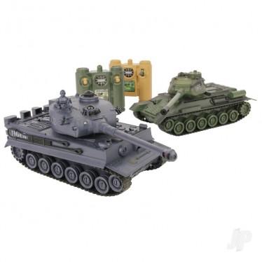 JP Battle Tanks RTR (1xRussian T-34/1xGerman Tiger) JPD101000
