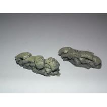 Javis Sandbags Curved OO (2) 1/76 JSB2