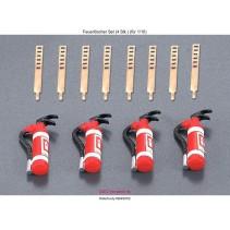 Schumacher Killerbody KB48052 Fire Extinguisher Set (4) 1/10
