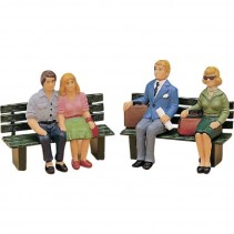 LGB Passenger Figures Seated Set 2  G Gauge L52390