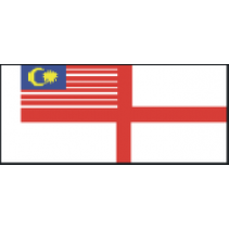 Fabric Flag D 50mm MAL02 Malaysia Naval Ensign