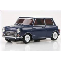 Morris Mini Cooper 1275S Blue/White Roof 1/27 Diecast