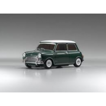 Morris Mini Cooper 1275S Green/White Roof 1/27 Diecast