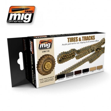 MIG Tyres & Tracks Acrylic Paint MIG7105