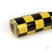 Oracover Pearl Yellow/Black Fun-3 Large Chequered