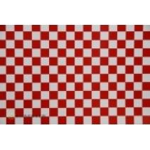 Oracover Fun 4 Small Check White/Red