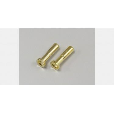Team Orion Gold Plug 4mm Male (2) Low Profile ORI40055