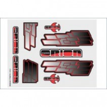 Internal Graphics set F-N-F Red/Black