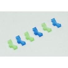 Safety Lead Lock - Green/Blue (6) P-RMXSLLGB