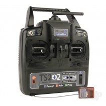 Planet TS2+2 2.4GHz 2-Channel Stick Transmitter with 2 Aux Channels with 6-chan1
