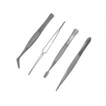 Model Craft Set of 4 Stainless Steel Tweezers PTW5000