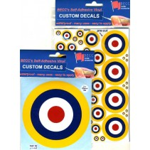 RAF02 RAF Roundel Yellow Outline Circa 1938 75mm