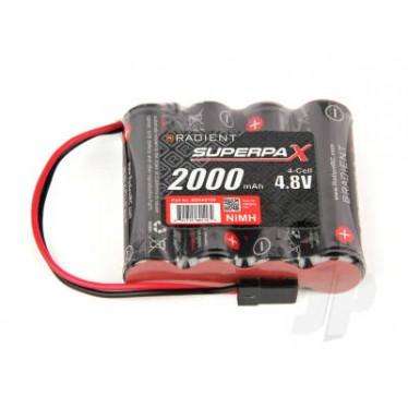 NiMH 4.8V 2000mAh AA SBS-Flat Rx-JR RDNA0199