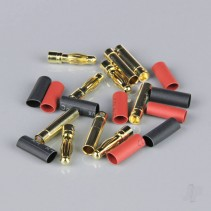 Radient 4mm Gold Connector Pairs inc. Heat Shrink x 5 RDNAC010090