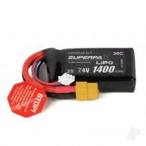 Radient LiPo 2S 1400mAh 7.4V 30C XT60  RDNB14002S30X