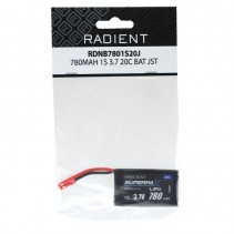 Radient LiPo 1S 780mAh 3.7V 20C JST RDNB7801S20J