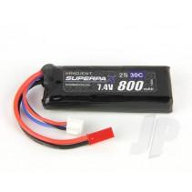 Radient LiPo 2S 800mAh 7.4V 30C JST RDNB8002SJ30