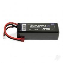 Radient LiPo 3S 7200mAh 11.1V 50C Hard Case (Deans) RDNBH72003C5