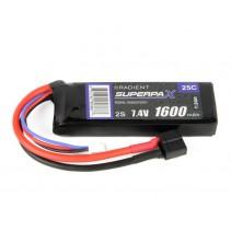 Radient LiPo 2S 1600mAh 7.4V 25C HCT RDNL1600S25H