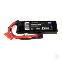 Radient LiPo 2S 2200mAh 7.4 25C HCT RDNL22002S25H