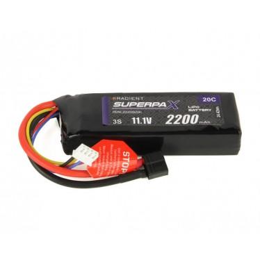 Radient LiPo 3S 2200mAh 11.1V 20C HCT  RDNL22003S20H