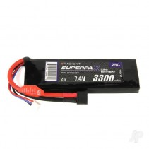 Radient LiPo 2S 3300mAh 7.4 V 25C HCT Battery RDNL33002S25H