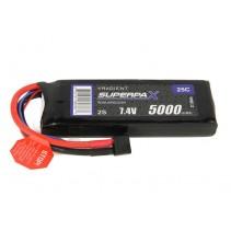 Radient LiPo 2S 5000mAh 7.4V 25c HCT RDNL50002S25H