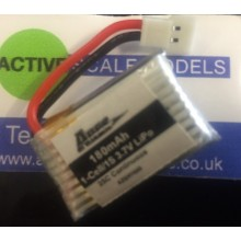180mAh 1-Cell/1S 3.7v 25C Lipo Battery - Spidex