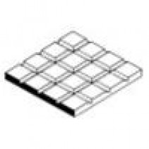 Square Tile 1/6  0.4 thick Evergreen 4504