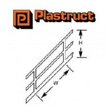 Plastruct HO Scale 1:100 Styrene Stair Rail (2) SRS4