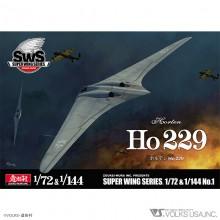 Super Wing Series Zoukei-Mura Horten Ho229 (two kits) SWS72-144-01