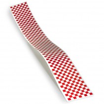 Monokote Trim Red/White Checkerboard T-TOPQ4111