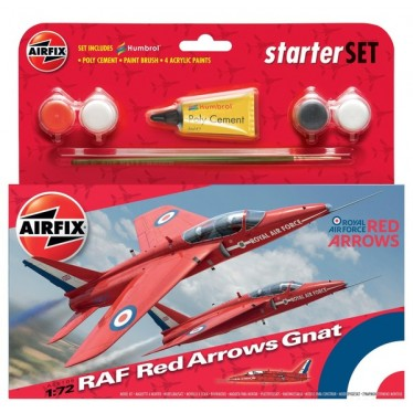 Airfix RAF Red Arrows Gnat 1:72 Starter Kit 55105