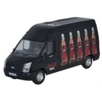 Ford Transit LWB High Roof Coke Zero 1/76 Oxford Diecast
