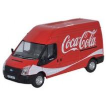 Ford Transit LWB High Roof Coke (Coca-Cola) 1/76 Oxford Diecast