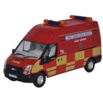 Ford Transit LWB High Roof West Sussex Fire & Rescue Oxford Diecast 1/76