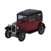 Austin Seven RN Saloon Maroon 1/76 Oxford Diecast
