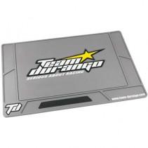 Large Team Durango Rubber Pit Mat Silver Grey TD390080
