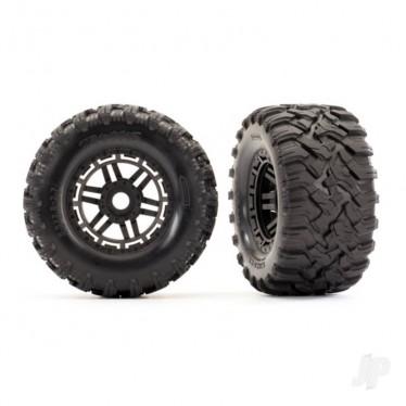TRX8972 Tyres and Wheels, Assembled Glued Maxx All-Terrain Tyres (2 pcs)