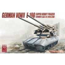 Modelcollect Germany WWII Flak 40 128mm Zwillingsflak with E-100 Hull UA72097