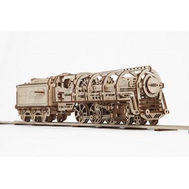 UGEARS Steam Locomotive and Tender UG70012