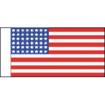 USA20 48 Stars 1912-1959 Size B 25mm Fabric Flag