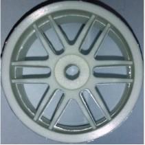 V12 White 12 Spoke Wheels