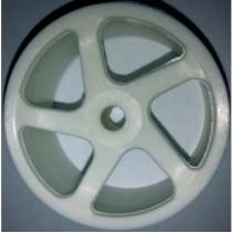 V2AE V12 White 5 Spoke Wheels
