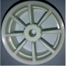 V12 White 8 spoke Wheels