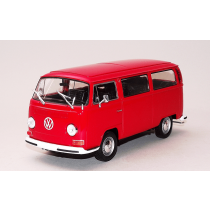 Welly Volkswagen Bus T2 1972 RED Diecast 1/24