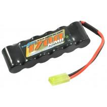 Voltz Straight Pack 7.2V 1700mAh Nimh w/Mini Tamiya VZ0053